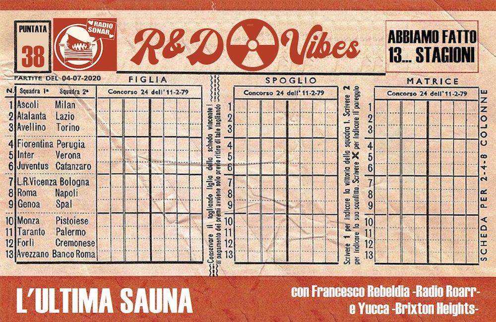 R&D Vibes #38: L'Ultima Sauna. Con Francesco Mannish e Yucca